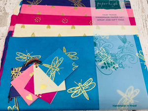 Lotka Handmade Paper Gift Wrap Mixed - Fair Trade