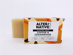Coffee and Cedarwood Solid Shaving Soap