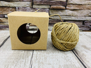 Natural Twine and Dispenser (50m long)