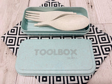 Load image into Gallery viewer, 'Shlurple' Reusable Cutlery Toolbox - Green