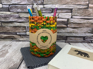 Recycled Newspaper Pencil/Storage Pot