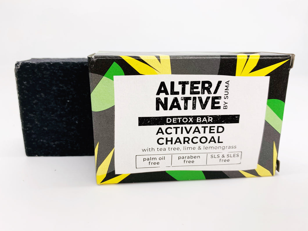 Detox Bar - Activated Charcoal with Tea tree, Lime and Lemongrass