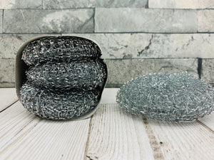 Galvanised Steel Scourers (x3)