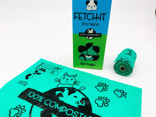 Fetch It Compostable Dog Poo Bags (60 bags)