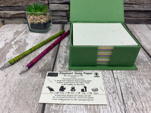 Load image into Gallery viewer, Elephant Dung Notepad and Note Holder Box - Fair Trade