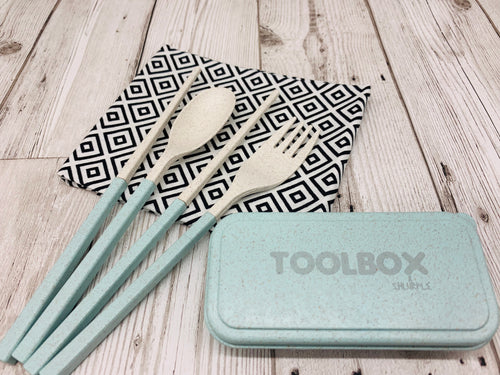 'Shlurple' Reusable Cutlery Toolbox - Green