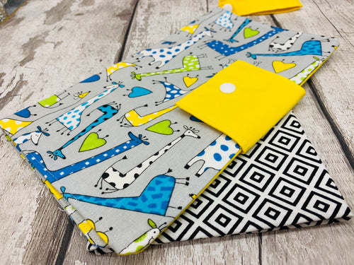 Nappy/Wipe Storage Pouch - Giraffe Design