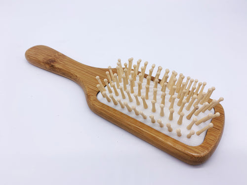 Large Bamboo Hair Brush with Wooden Pins