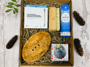 Deluxe Zero Waste Gift Box with Olive Wood Soap Dish