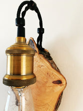 Load image into Gallery viewer, Handmade Reclaimed Cherry Wood Wall Light
