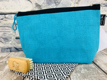 Load image into Gallery viewer, Medium Cotton Cosmetic / Travel Bag - Blue