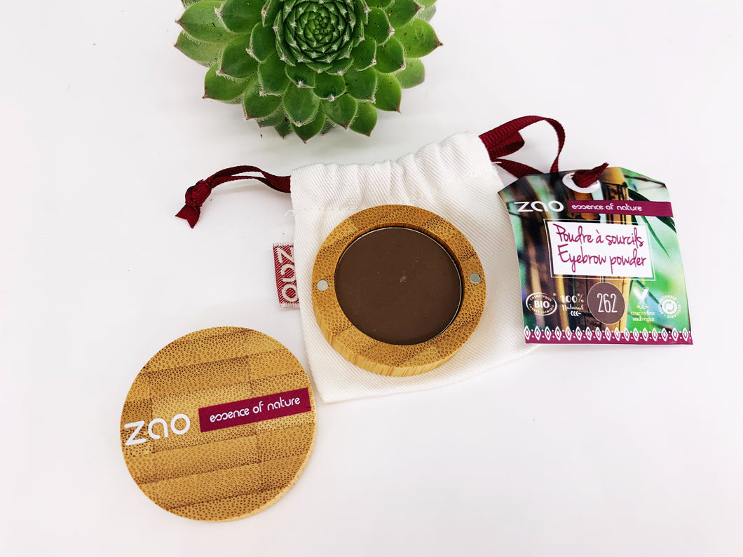 Zao Eyebrow Powder with Bamboo Case - Dark Brown (262)