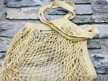 Load image into Gallery viewer, Long Handled Organic Cotton Turtle String Bag