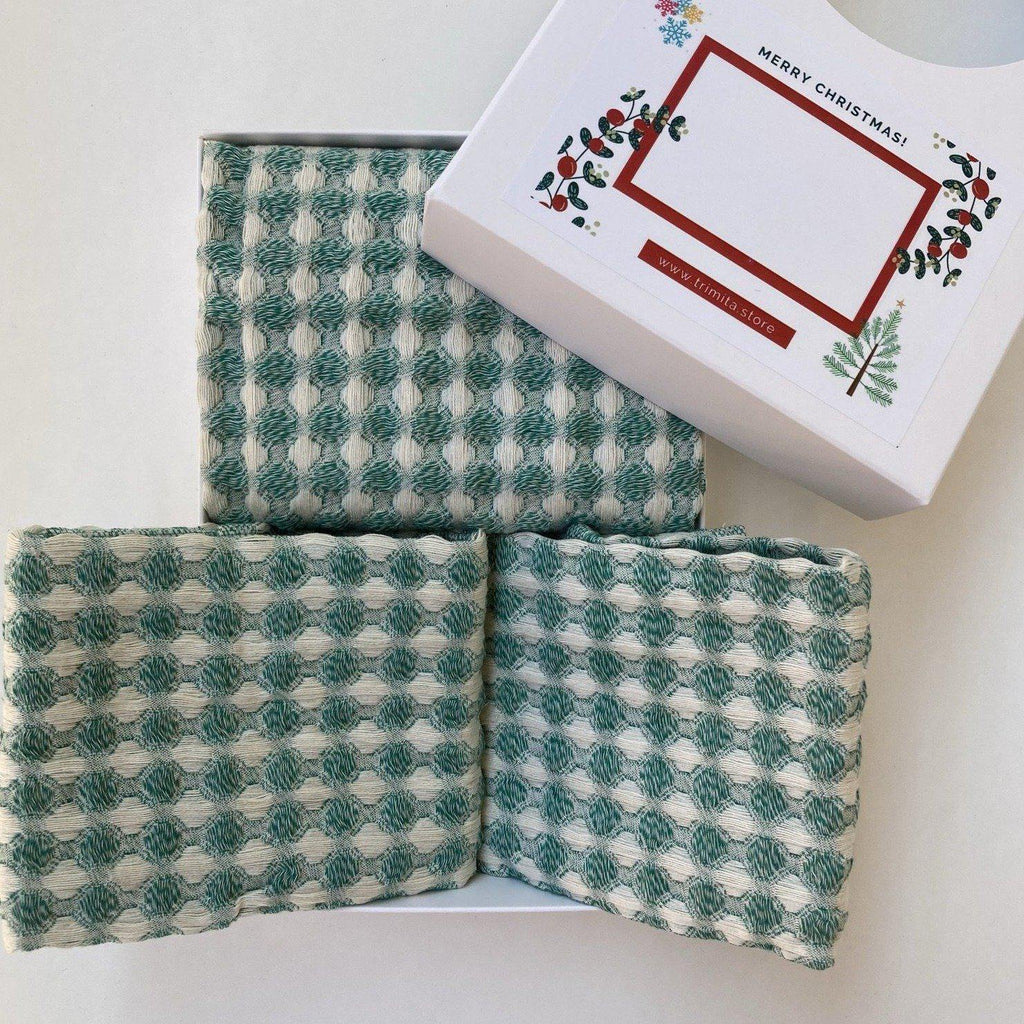 1 Dish Cloths & 2 Hand Towels - Trimita