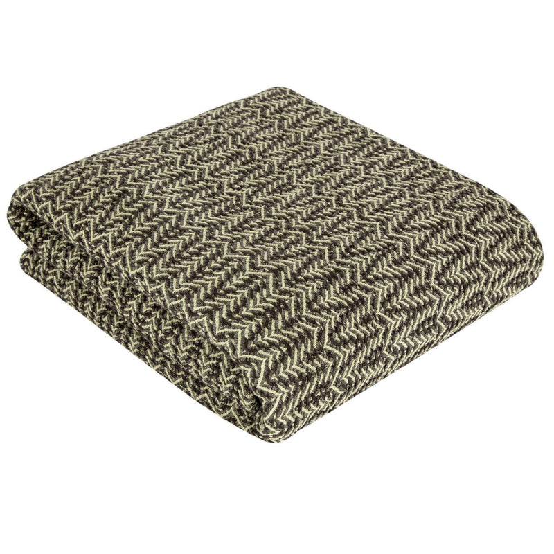 Athena Throw | Green & Coffee - Trimita