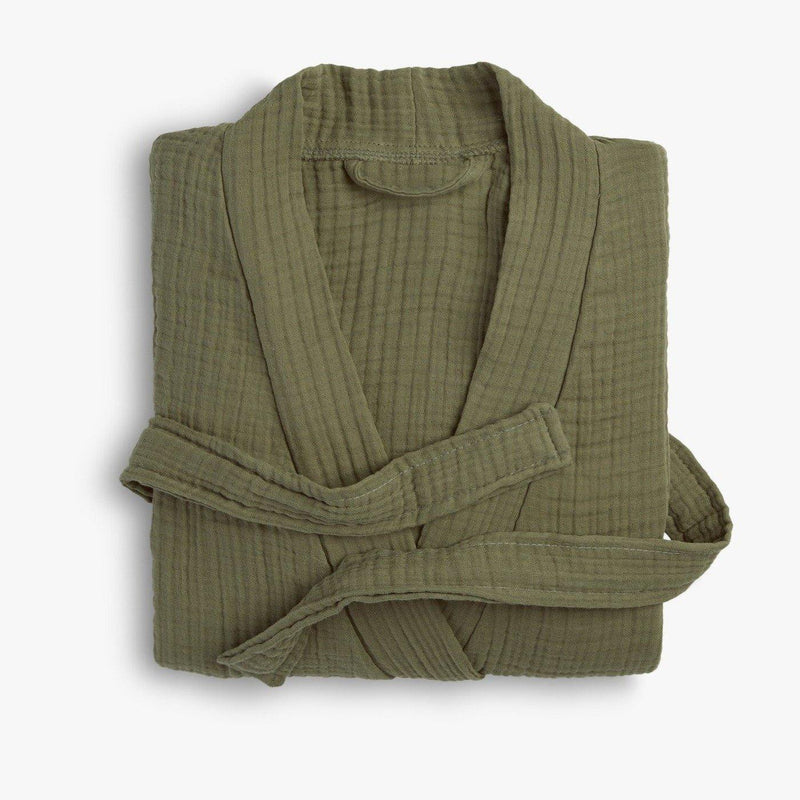 Cloud Cotton Unisex Bathrobe - Green - Trimita
