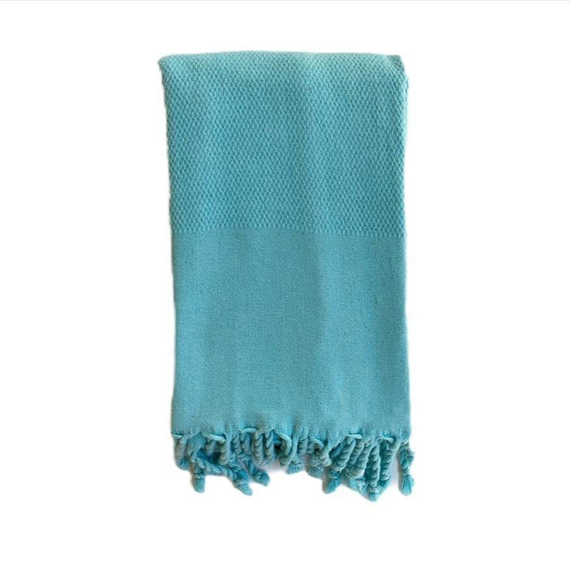 Hammam Towel | Honey Comb Stone Washed | Cyan