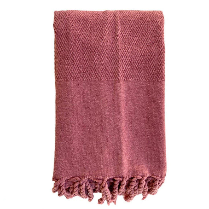 Hammam Towel | Honey Comb Stone Washed | Dried Rose