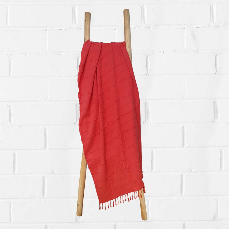 Hammam Towel | Stone Washed | Coral