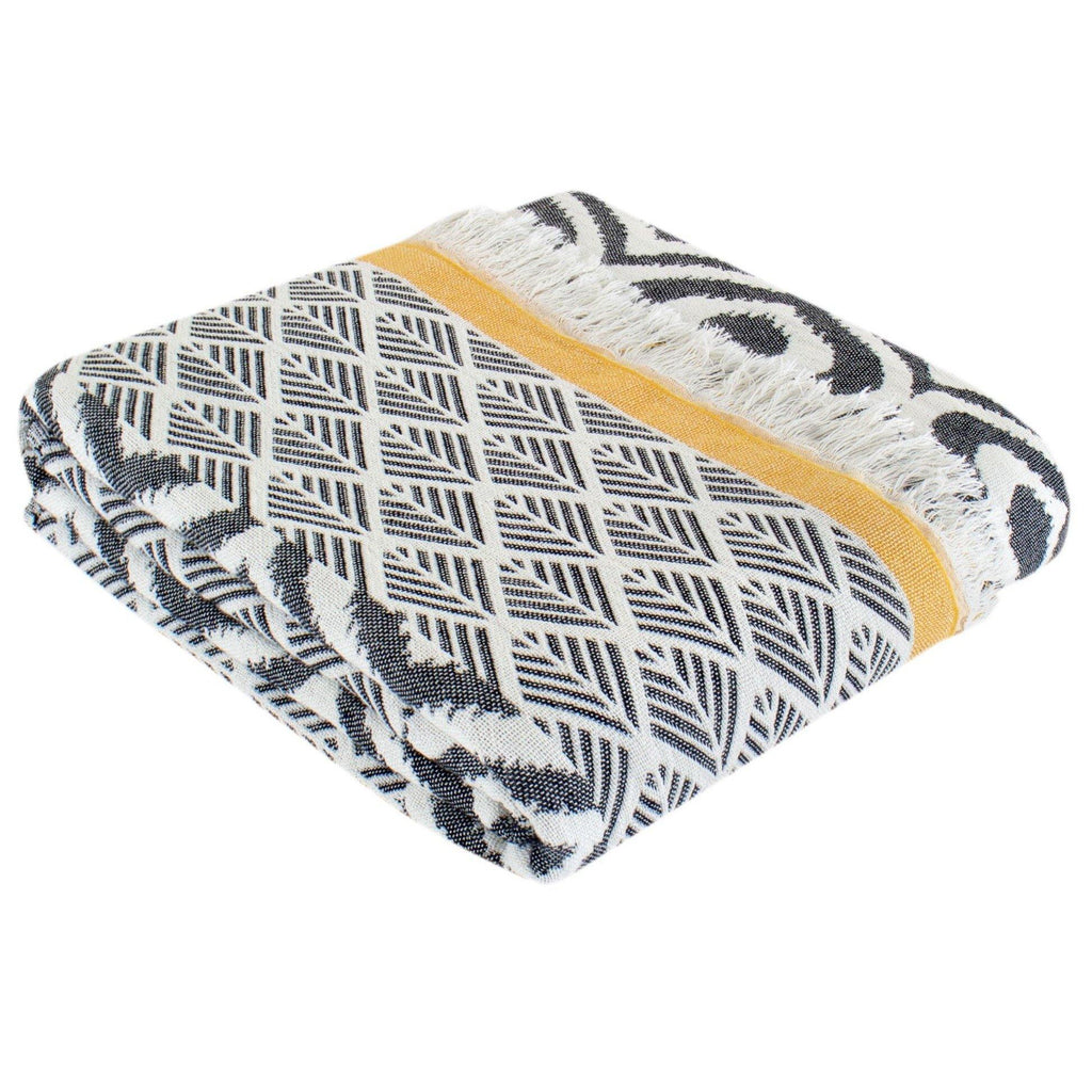 Throw Blanket | Comfort | 135x170 cm | Black & Yellow - Trimita