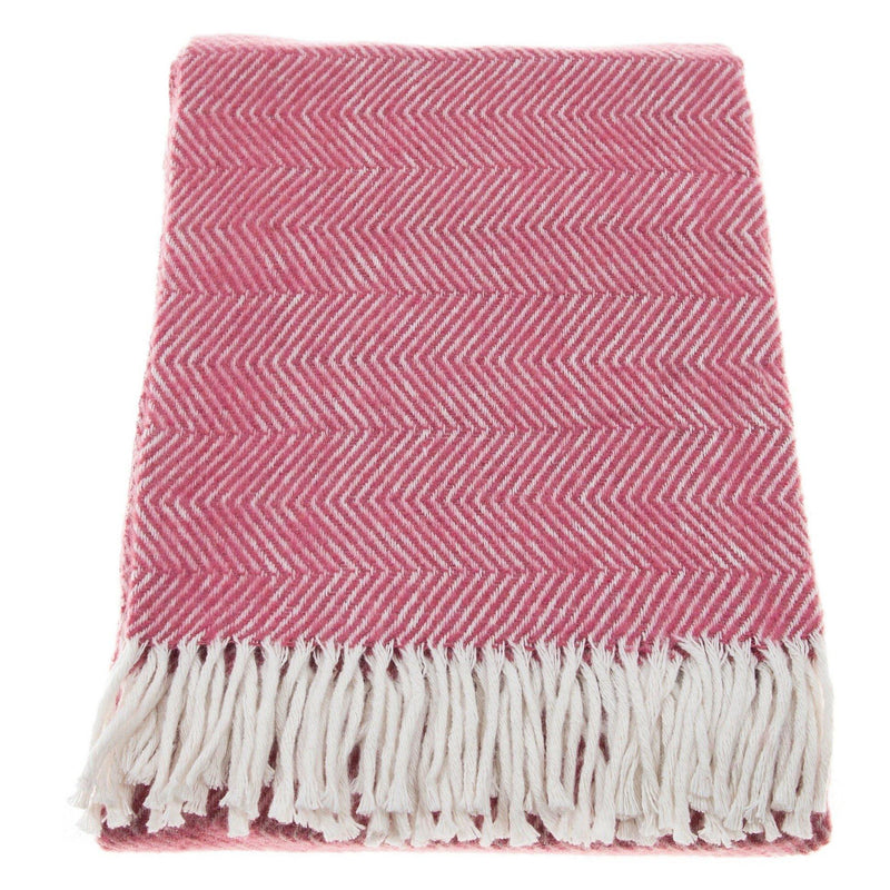 Throw Blanket | Herringbone | Coral | 130x170 cm
