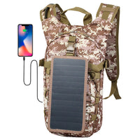 ECEEN Tactical Solar Hydration Backpack with 2L Bladder Bag