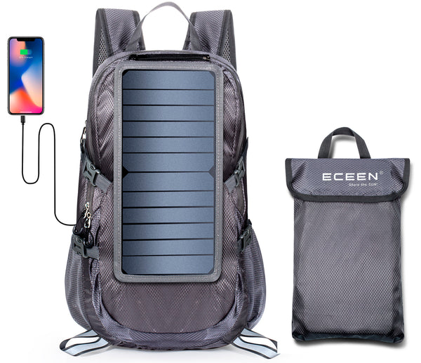 ECEEN Solar Powered Foldable Backpack 30L - ECEEN Solar Charger Backpacks & Led Signal Bags