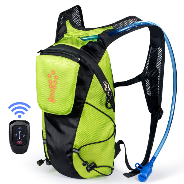 ECEEN LED Turn Signal Bike Hydration Backpack - ECEEN Solar Charger Backpacks & Led Signal Bags