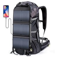 ECEEN External Frame Hiking Backpack with 20 Watts Solar Panel