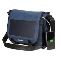 ECEEN 7 Watts Solar Messenger Bag - ECEEN Solar Charger Backpacks & Led Signal Bags