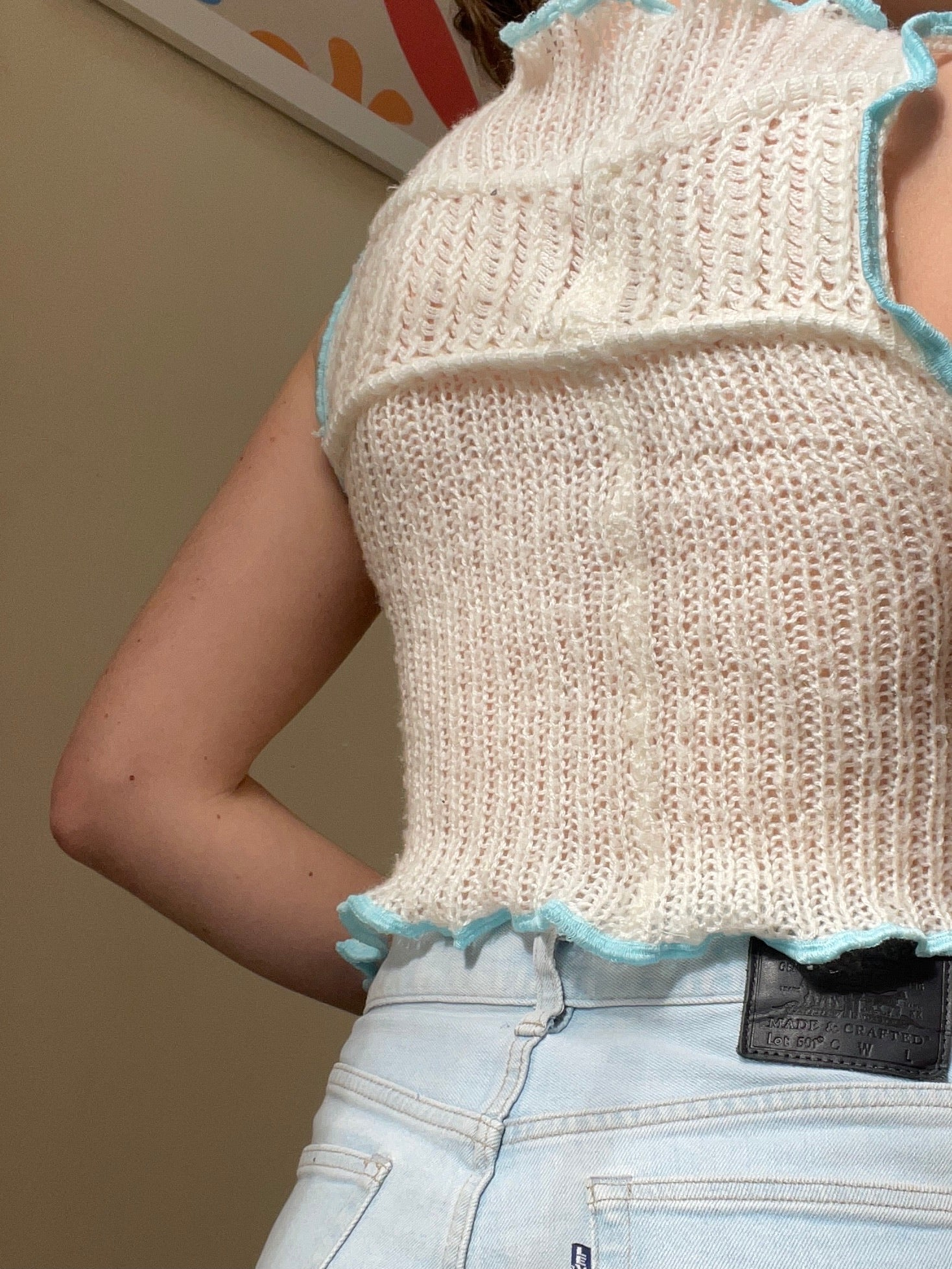 MIXED TEXTURE TANK TOP