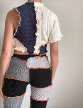 Load image into Gallery viewer, MIXED KNIT TOP WITH CUTOUT
