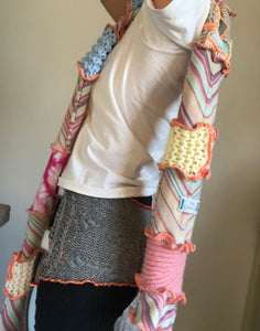 MIXED TEXTURE OVERSIZED SCARF