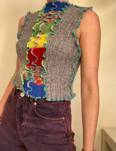 MIXED KNIT TANK TOP