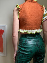 Load image into Gallery viewer, MIXED KNIT CUTOUT CROP TOP