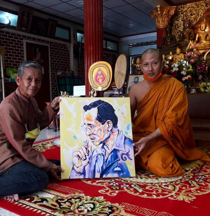Art Piece donated to a temple in Thailand