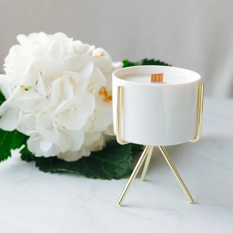 Coconut Wax Candle Stand Planter - Small