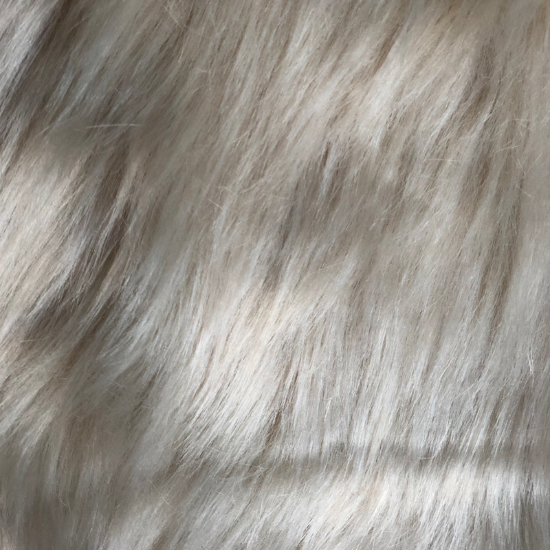 Small Vegan Fur and Suede Throw Rug