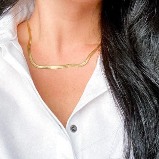 Cascade Herringbone Necklace