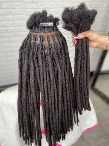 Human Hair Loc Extensions - Black Natural - Color #1B