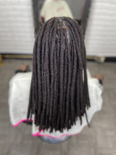 Load image into Gallery viewer, Human Hair Loc Extensions - Black Natural - Color #1B