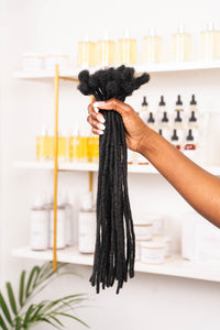 Human Hair Loc Extensions - Black - Color #1
