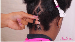 Diamond Parting on Comb Coil Starter Locs (Video Subscription)