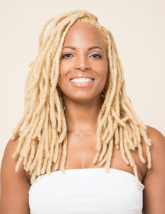Human Hair Loc Extensions - Pale Blonde - Color #613