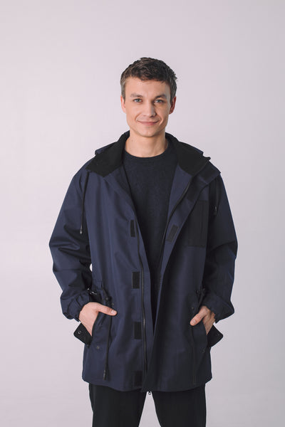 Una Terra Windbreaker Jacket with Hood