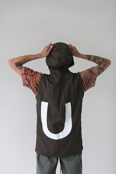 Una Terra Waterproof Vest with Hood