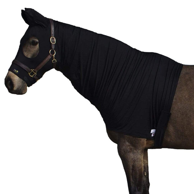 Lycra Horse Hood with Ears - Shine the coat, tame the mane and protect plaits - Snuggy Hoods