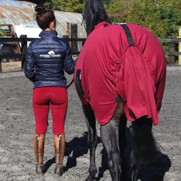 Snuggy Hoods Winter Under Rug with complete tummy coverage for horse & pony