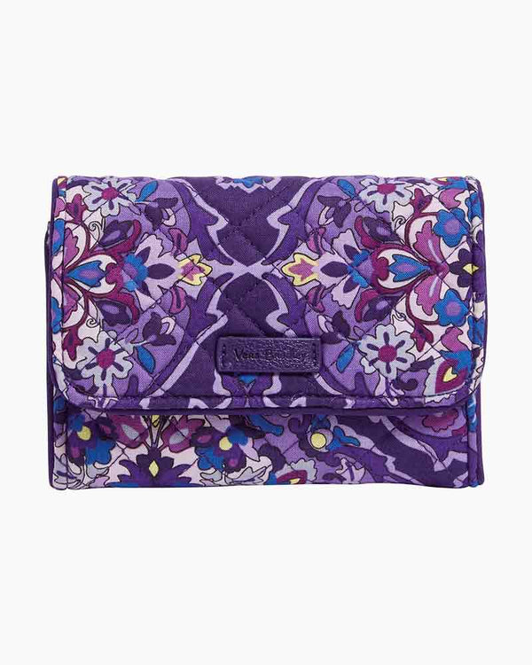 Iconic RFID Riley Compact Wallet in Regal Rosette