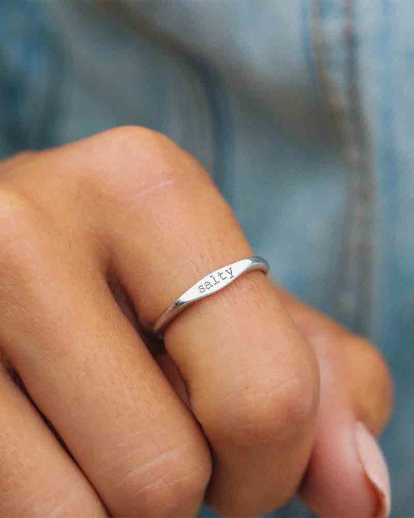Salty Vibes Stacking Ring in Silver
